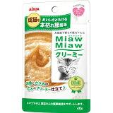MiawMiaw 奶油pouch 书枯萎节风味40g 12个[MiawMiaw クリーミーパウチ 本枯れ節風味 40g 12コ]