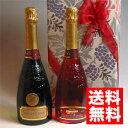 ■送料無料■クレマン ド ボルドー ロゼ&白 スパークリングワイン飲み比べ 2本組ギフトセット 送料込み ギフト ラッピング のし メッセージカード OK! お祝い/結婚祝い/誕生祝い/結婚記念日/贈り物/誕生日プレゼント/開店祝い