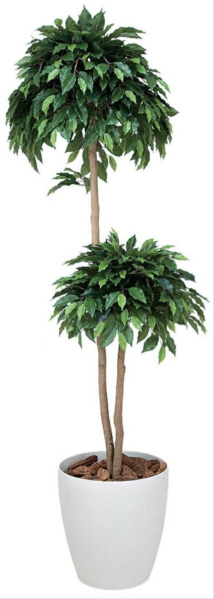 光触媒 観葉植物 光の楽園 ベンジャミン ダブル 高さ1.6m【インテリアグリーン 大型 人工観葉植物】 新築祝い・開店祝い・誕生日などのギフトに。玄関・お店のインテリアにお手入れいらずの光の楽園