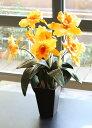 【送料無料】光触媒 光の楽園 カトレア イエロー【アートフラワー 造花】