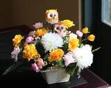 【】光触媒 光の楽園幸せのペアふくろう <福来朗・不苦労>【アートフラワー 造花 観葉植物】【楽ギフのし宛書】【RCP】