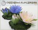 【送料無料 入荷待ち】光の楽園 造花浮睡蓮 2色セット(ブルー・ピンク)【造花 人工観葉植物】【1人1セットのみ 光触媒加工なし】