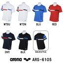 ●●【ARS-6105】ARENA(アリーナ) ドライピケ Tシャツ[トレーニングウェア/メンズ/レディース/レディス/男女共通]