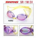 【SR-1MEV-PURRU】SWANS(スワンズ) ノンクッションスイムゴーグル(ミラータイプ)】[FINA承認モデル/スイミング/水泳/競泳用/レーシング/...