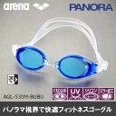 【水泳ゴーグル】【AGL-530M-BUBU】ARENA(アリーナ) クッション付きフィットネススイミングゴーグル(ミラータイプ)【PANORA(パノラ)】