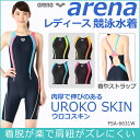 【FSA-6631W】ARENA(アリーナ) レディース競泳水着 UROKO SKIN セイフリーバックスパッツ[競泳/女性用/公式大会使用不可/背開きタイプ]