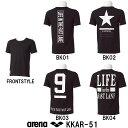 ●●【KKAR-51】ARENA(アリーナ) +Kソフトニット Tシャツ[トレーニングウェア/シャツ]