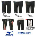 【N2MB6025】MIZUNO(ミズノ) メンズ競泳用水着 Stream Aqucela ソニックフィットAC ハーフスパッツ[競泳/男性用/FINA承認]