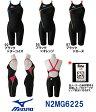 【N2MG6225】MIZUNO(ミズノ) レディース競泳用水着 Stream Aqucela ソニックフィットAC ハーフスーツ[競泳/女性用/FINA承認/背開きタイプ/スパッツ]