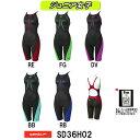 【SD36H02】SPEEDO(スピード) ジュニア女子競泳水着 Fastskin XT Active Hybrid2 ジュニアニースキン[子供用/競泳/ニット...