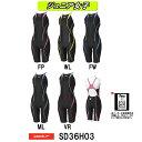 【SD36H03】SPEEDO(スピード) ジュニア女子競泳水着 FLEX Cube ジュニアオープンバックニースキン)[子供用/競泳/FINA承認]