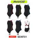 【SD36T01】SPEEDO(スピード) ジュニア女子競泳練習水着 ENDURANCE J ジュニアトレインカットスーツ[競泳水着/子供用/練習用/長持ち]