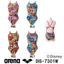 【DIS-7301W】ARENA(アリーナ) レディース競泳練習水着 タフスーツ タフスキンD スーパーフライバック(ディズニー)[競泳水着/練習用/長持ち/女...