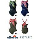●●【ES37151T】ellesse(エレッセ) レディース競泳水着 プリントシレーナハイライン ワンピ