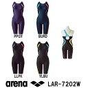 【LAR-7202W】ARENA(アリーナ) レディースフィットネス水着 ダブルエステルダイヤWR サークルバックスパッツ(ぴったりパッド)(着やストラップ)[女性用/フィットネス/スパッツ]