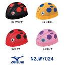 【N2JW7024】MIZUNO(ミズノ) メッシュキャップ【テントウムシ】[水泳帽/スイムキャップ/スイミング/プール/水泳小物]