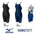 【N2MG7277】MIZUNO(ミズノ) レディース競泳練習水着 EXER SUITS U-Fit ハーフスーツ[女性用/長持ち/練習用/選手/スパッツ]