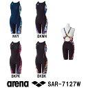 【SAR-7127W】ARENA(アリーナ) レディース競泳練習水着 タフスーツ タフスキン タフハーフスパッツ(着やストラップ)[競泳水着/女性用/練習用/長持ち]