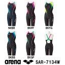 【SAR-7134W】ARENA(アリーナ) レディース競泳水着 UROKO SKIN ST セイフリーバックスパッツ(着やストラップ)(差し込みフィットパッド...