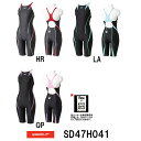 【SD47H041】SPEEDO(スピード) レディース競泳水着 FLEX Cube ウイメンズセミオープンバックニースキン[女性用/競泳/FINA承認/スパッ...