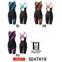 【送料無料】【SD47H19】SPEEDO(スピード) レディース競泳水着 FLEX Σ ウイメンズセミオープンバックニースキン[競泳用/女性用/スパッツ]