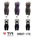 【SRBST-17S】TYR(ティア) レディーストレーニング水着 RAINBOW STRIPE(レインボーストライプ) ウィメンズオールインワン[練習用水着/スパッツ/女性用]