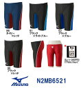 【N2MB6521】MIZUNO(ミズノ) メンズ競泳水着 Stream Aqucela ソニックフィットAC ハーフスパッツ[競泳水着/男性用/スパッツ/FINA承認]