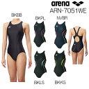 アリーナ ARENA 競泳水着 レディース セイフリーバック 着やストラップ 大きいサイズ fina承認 UROKO SKIN ST ARN-7051WE