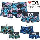 《クーポン利用で更に値引!》トレーニング水着 ティア TYR 練習用水着 メンズ ショートボクサー 2018年MSモデル BLEAF-18M-HK