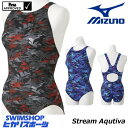《クーポンで更にお値引き》ミズノ MIZUNO 競泳水着 レディース fina承認 ローカット(オープン) Stream Aqutiva ストリームフィット2 2018年秋冬モデル N2MA8748-HK