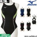 ミズノ MIZUNO 競泳水着 レディース fina承認 ストリームアクティバ ローカット(オープン) ストリームフィット2 N2MA8240
