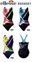 【送料無料】ellesse(エレッセ) レディース 競泳水着 プリントシレーナハイライン ワンピース(パッド付) ES54551-HK