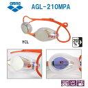 【水泳ゴーグル】【AGL-210MPA-YCL】ARENA(アリーナ) クッション付きスイミングゴーグル(ミラータイプ)【SPLASH(スプラッシュ)】[FIN...