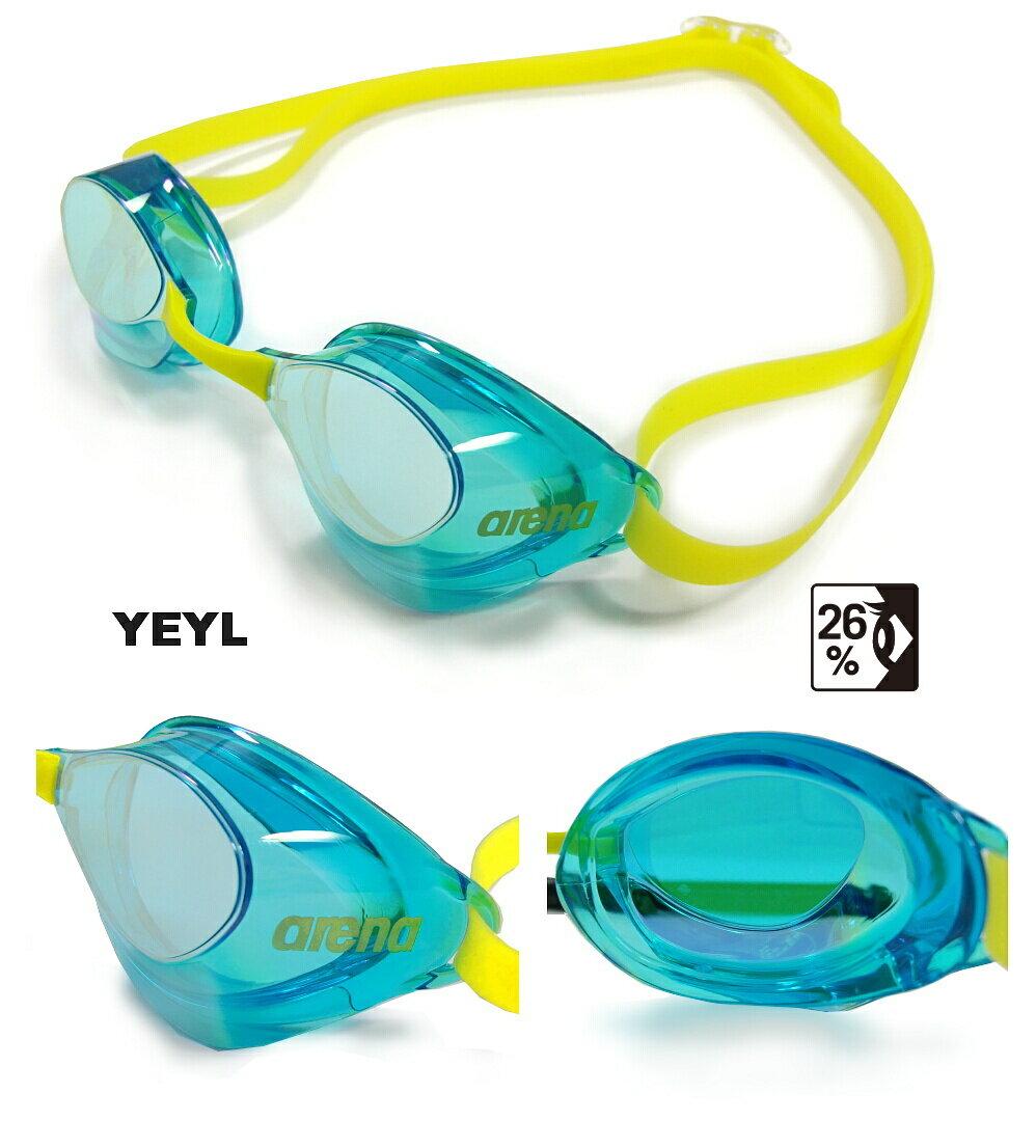 【水泳ゴーグル】【AGL-130M-YEYL】ARENA(アリーナ)ノンクッションスイミン…...:hikarisp:10009911