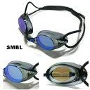 【スイムゴーグル】SWANS スワンズ ノンクッション スイミングゴーグル ミラータイプ 水泳 SR-1MEV-SMBL