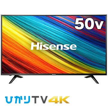 【エントリーで+P10倍(21日20:00-26日1:59まで)】ハイセンス 4K対応 50型LED液晶テレビ HJ50N3000