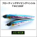 【あす楽対応】メロン屋工房 TWZ200F ダイビングペンシルフローティングMelon-ya-kob