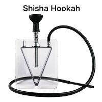 【送料無料】 水タバコ 水パイプ シーシャ フーカ 本体 おしゃれ 割れにくいアクリル素材 Shisha Hookah 立方体 安定のスクエア型 本体 VAPE ベイプ フーカー Hilax