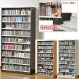 収納力抜群!CD・DVD奥行2段タンデムストッカー:幅890:送料無料 TCS890【02P01Oct16】