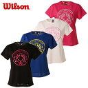 ウィルソン(wilson) テニスウェア レディース 半袖UVカットTシャツ UPF50+Tシャツ(WRJ5864)