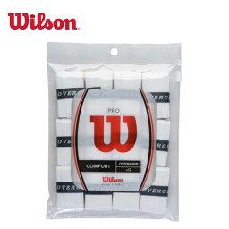 ウィルソン(Wilson) ウェットグリップ プロオーバーグリップ 12本入り (PRO OVERGRIP 12PK) WRZ4022 WH <strong>錦織圭</strong>使用モデル テニス バドミントン グリップテープ