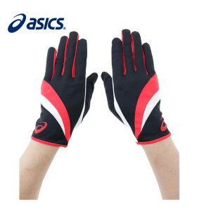 【9/18 20:00〜23:59 エントリーでポイント最大12倍】アシックス asicsランニング 手袋 メンズ レディースパイルレーシンググローブBKXTG220
