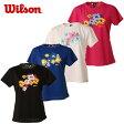 【基本送料無料 6/27 9:59まで】ウィルソン(wilson) テニスウェア レディース 半袖UVカットTシャツ UPF50+Tシャツ(WRJ5865)