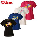 ウィルソン wilson テニス バドミントン ウェア レディース 半袖UVカットTシャツ UPF50+Tシャツ WRJ5865