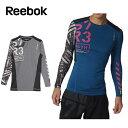 リーボック ( Reebok ) 長袖機能インナー ( メンズ ) ワンシリーズ グラフィック LSTシャツA BQ442