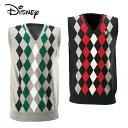 ディズニー Disneyゴルフ メンズアーガイルVネックベスト5532-0617