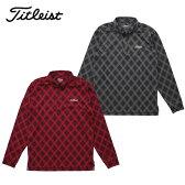 【2015年秋冬モデル】 タイトリスト チェックジャカード 蓄熱ボタンダウンシャツ TWMC1511 ゴルフウェア 機能ポロシャツ(メンズ)