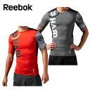 リーボック Reebok 半袖 アンダーシャツ アンダーウェア メンズ ワンシリーズ Comp ショートスリーブTシャツAQE73コンプレッション インナー ウェア