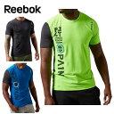 リーボック(Reebok) 機能ウェア(メンズ) ワンシリーズ LWグラフィック ショートスリーブTシャツ AQE82