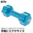 アンドライフ &life カラーダンベル 2kg ビューティアレイ AL580104F02 トレーニング器具 鉄アレイ ウエイト フィットネス エクササイズ